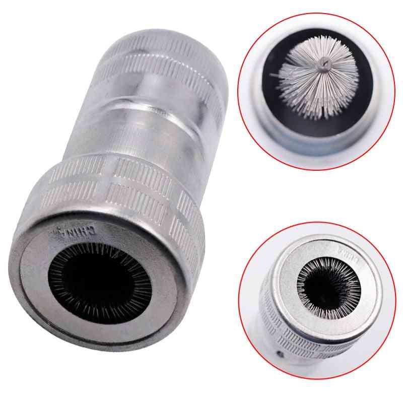 1pcs Car Battery Pole Brush Terminal Cleaner Car Wheel Rims Tire Washing Brush Clean Tool