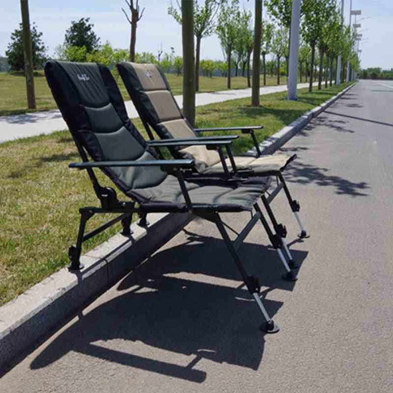 Folding Chair Padded Arm Chair With  Back Chair Portable