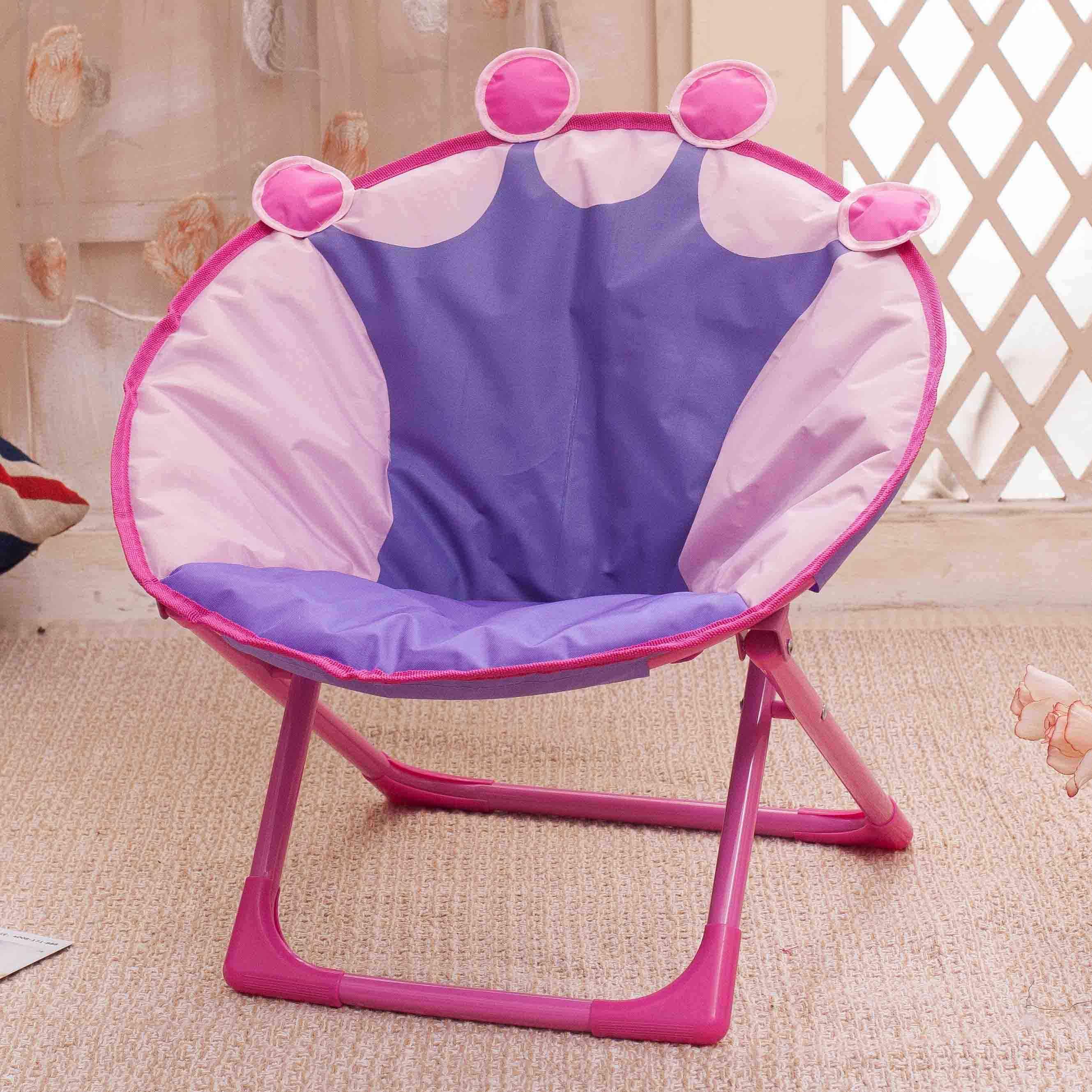 Children Folding Small Moon Recliner Baby Cartoon Backrest Chair