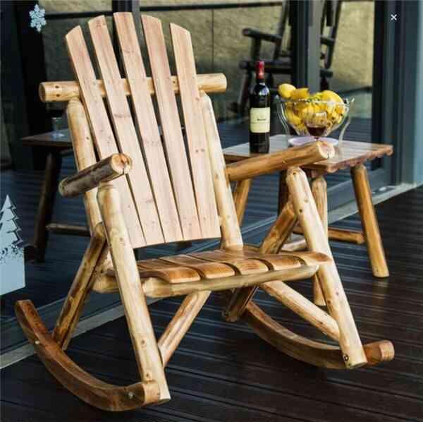 Outdoor Furniture Wooden Rocking Chair
