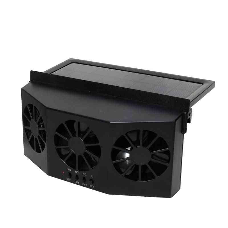 Car Solar Powered Exhaust Fan Car Gills Cooler, Dual Mode Power Supply