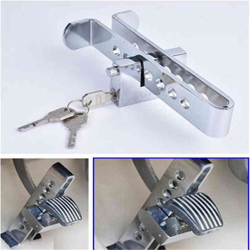 Car Brake Clutch Pedal Lock, Steel Stainless Anti-theft Strong Security Locks