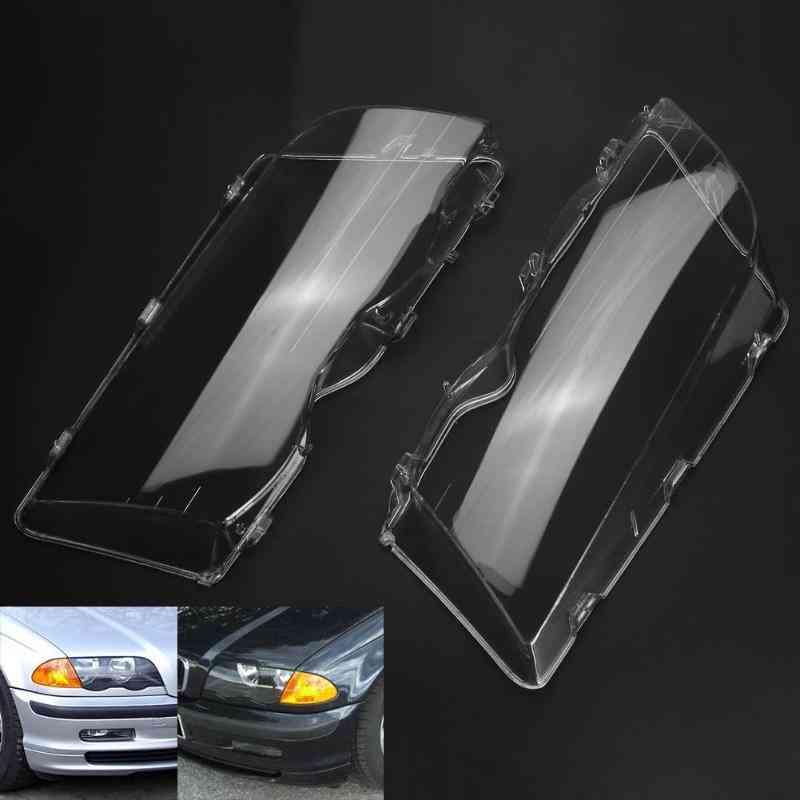 Car Headlight Clear 4 Door Automobile Left Right Headlight Lens Covers