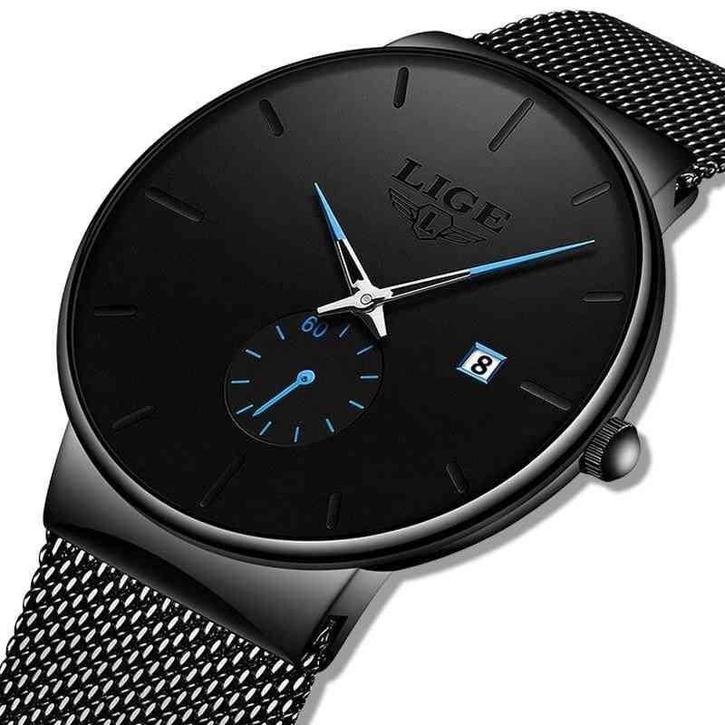 Fashion Business Watch, Analog Quartz Wristwatch Waterproof Clock