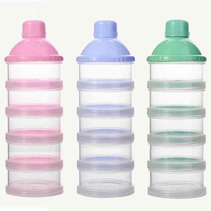 Grid Portable, Milk Powder, Formula Dispenser Container, Snacks Food, Storage Box