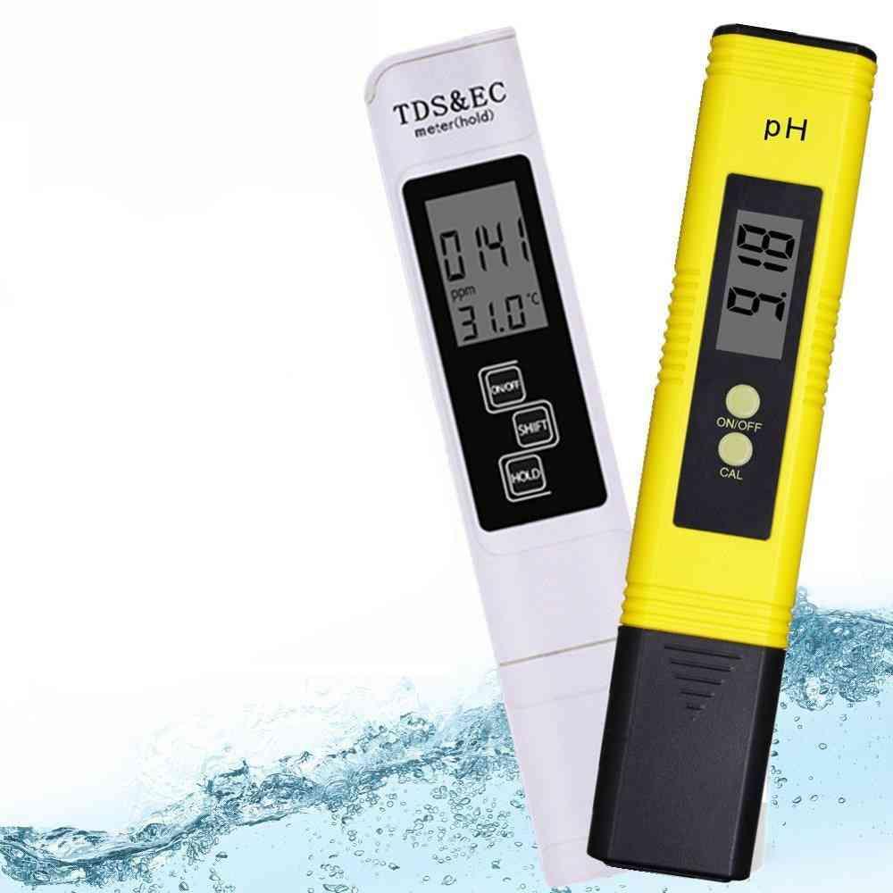 Digital Ph Ec Tds Meter-tester Temperature Pen Water Purity Ppm Filter Hydroponic