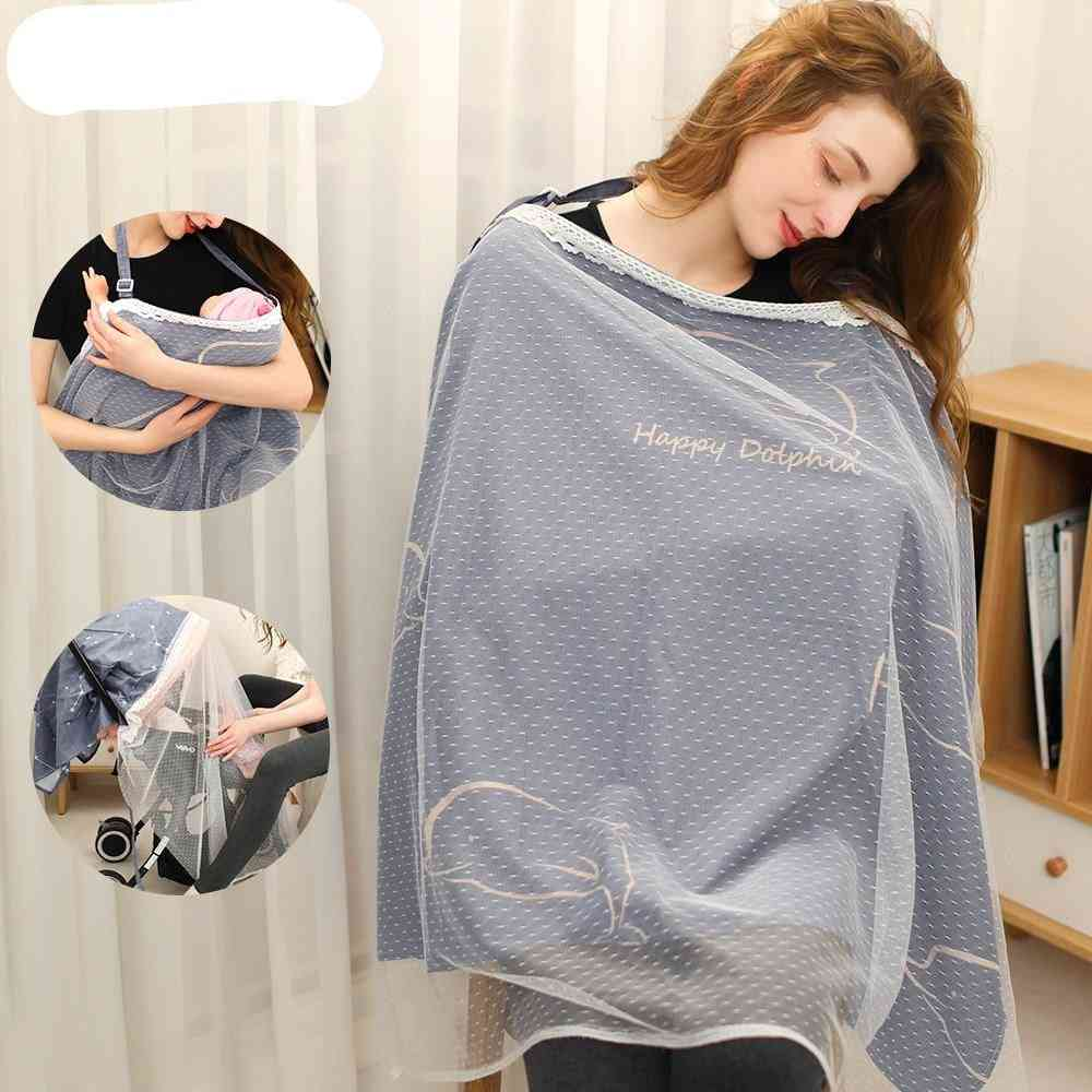 Cotton Nursing Cover, Breastfeeding Privacy Apron Outdoors Breathable Baby Clothes