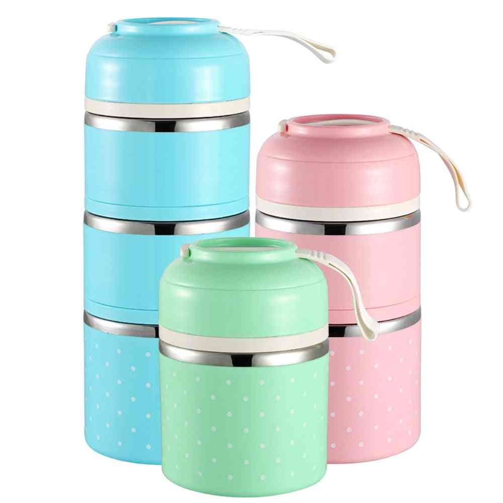Kids Lunch Box, Portable Japanese Bento Box, Leak-proof Food Container