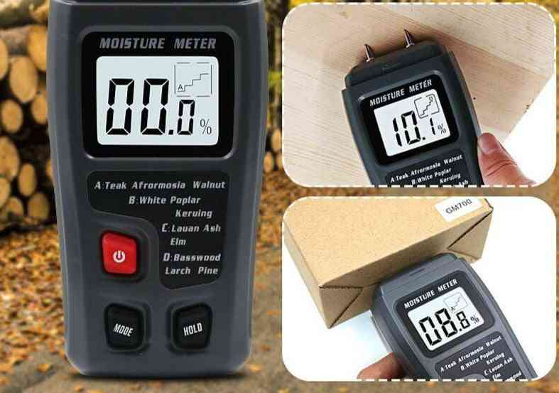 Digital Wood Moisture Meter-humidity Tester Timber Damp Detector With Large Lcd Display