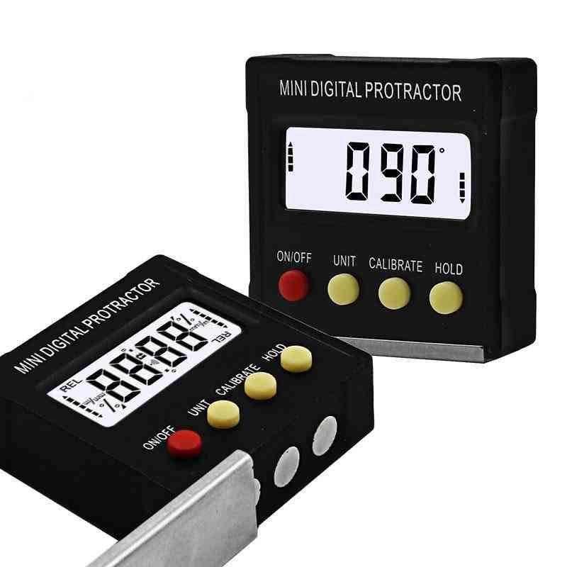 Mini Digital Protractor Inclinometer Electronic Level Box Magnetic Base Measuring Tools
