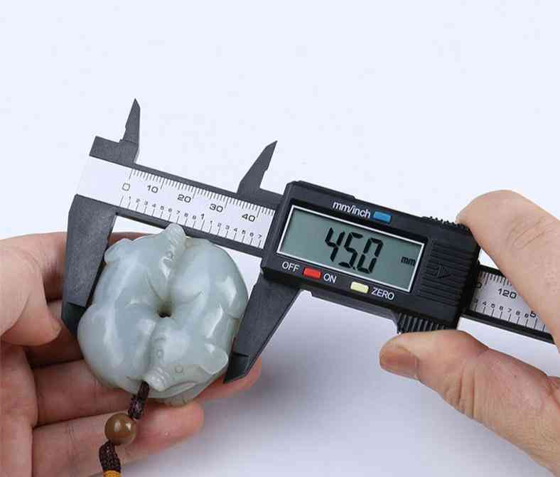 Vernier Caliper Measuring Tool-plastic Lcd Digital Electronic Carbon Fiber Ruler Gauge Micromete (vernier Caliper)