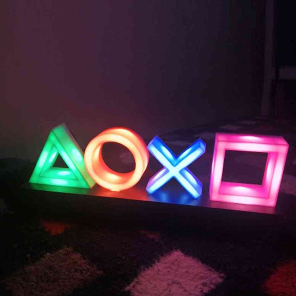 Voice Control Game Icon Light, Acrylic Atmosphere Neon Bar Decorative Lamp