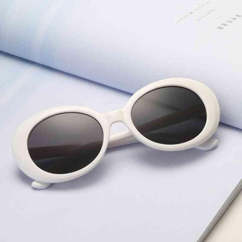 Goggles Kurt Cobain Men, Women, Luxury Brand Designer, Oval Sunglasses