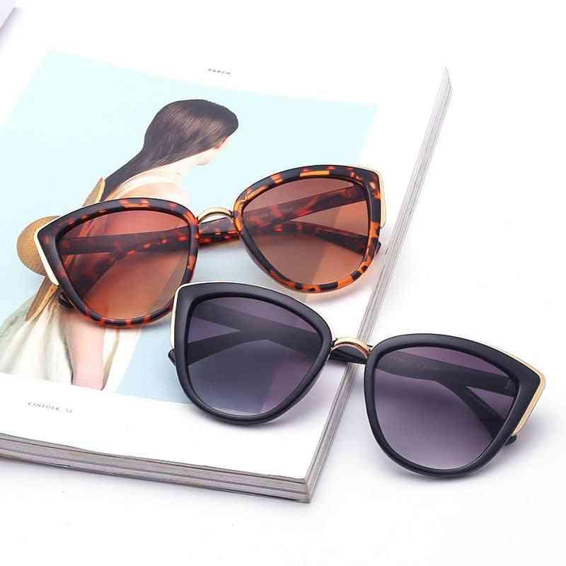 Gradient Female Eyewear Glasses, Retro Oversize, Cat Sunglasses