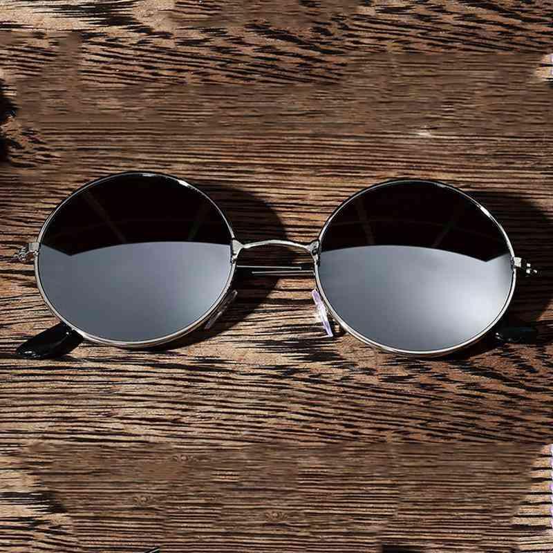 Car Driving Outdoor Sports, Retro Classic Round Polarized Sunglasses