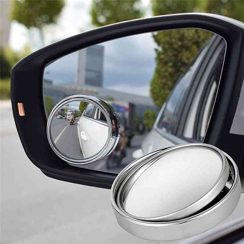 Rotary Push Car Rear View Small Round Mirror, Reverse Assist, Blind Spot, Accessories