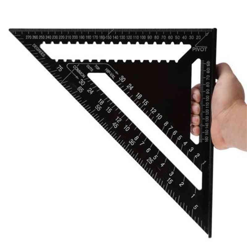 Aluminum Alloy Triangular Measuring Ruler Woodwork Speed Square