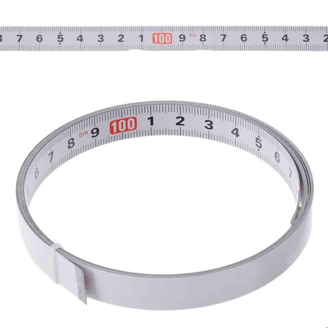 Self Adhesive Miter Saw Track Tape Backing Metric Steel Ruler Tape Measurements
