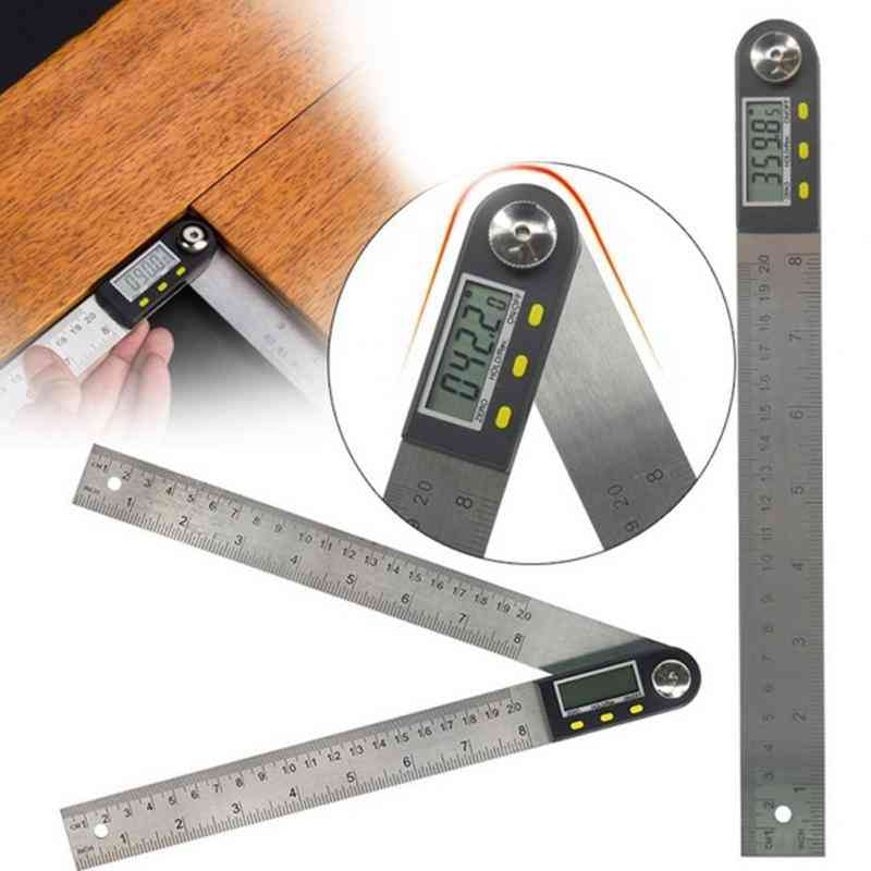 Stainless Steel Digital Protractor Angle Ruler Angle Finder Meter