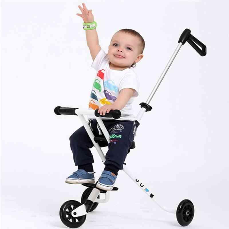M-cro Style, Three-wheeled Trolley, Folding Portable Carts, Aluminum Bike Stroller