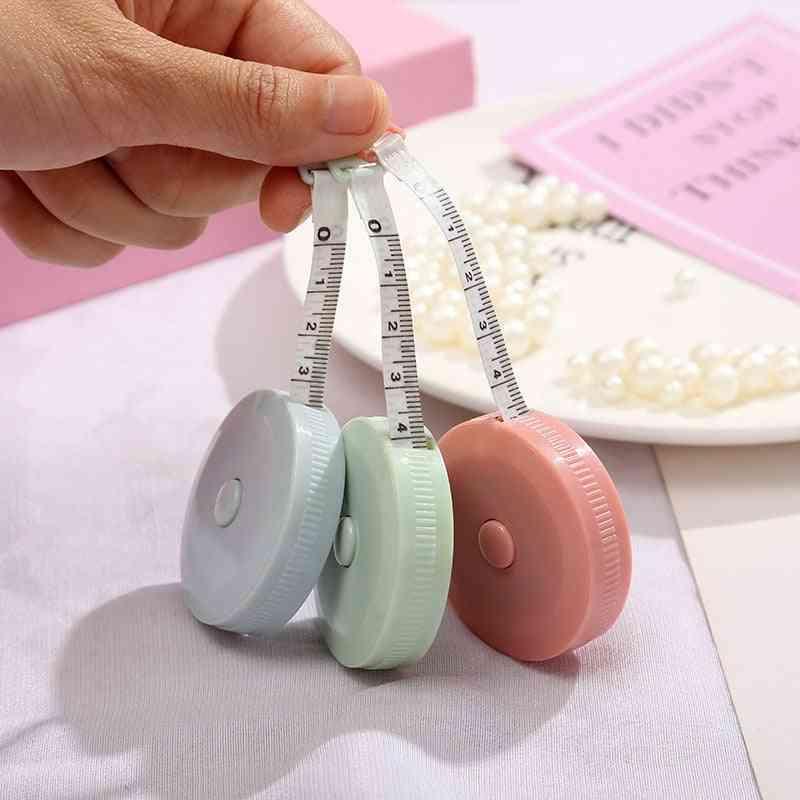 Tape Measures Portable Retractable Ruler-height Ruler Centimeter Inch Roll Tape Random Color