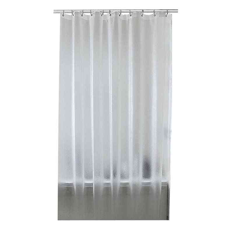 Plastic Waterproof Shower Curtain, Translucent Thickened Bath Frosted Atmosphere Partition