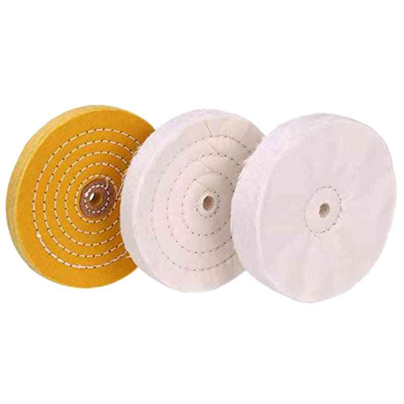 3 Piece 6-inch Mirror Polishing Wheel Set Cotton Wheel