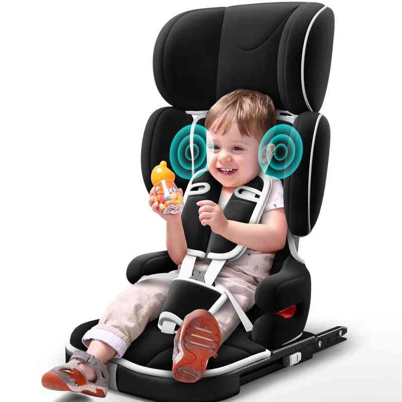 Portable Car Folding Safety Seat With Bluetooth Music, Isofix Latch