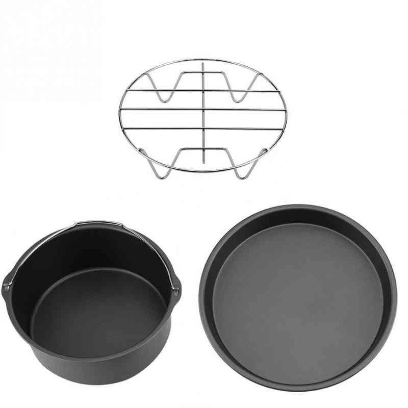 Air Fryer Accessories For Gowise Cozyna Cake Barrel, Pan & Rack Mat Kit