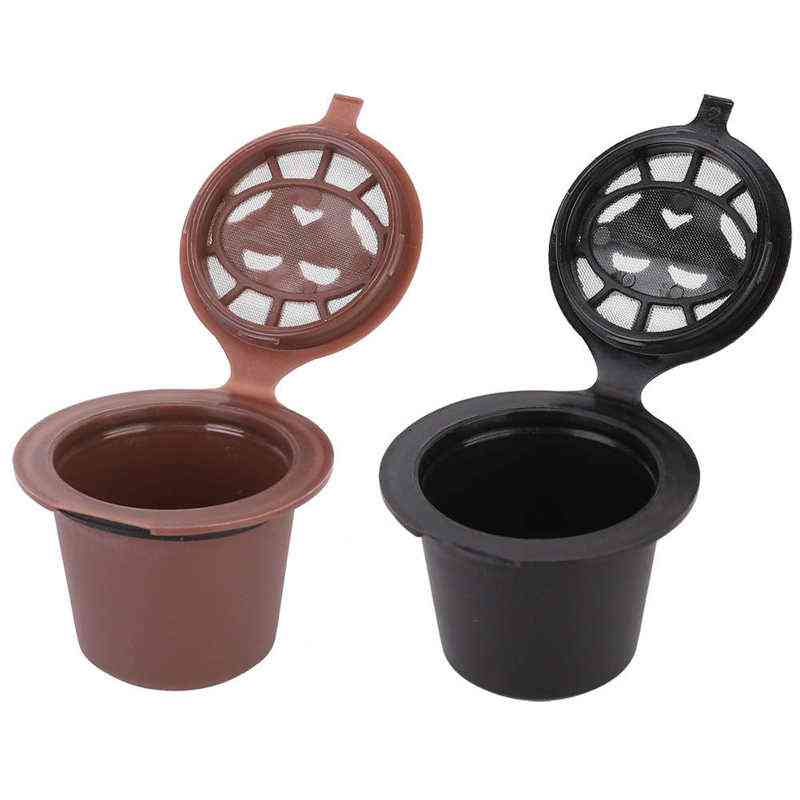 Stainless Steel Reusable Refillable Coffee Capsule Cup