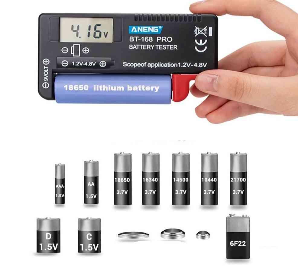 Digital Lithium Battery Capacity Tester, Checkered Load Analyzer