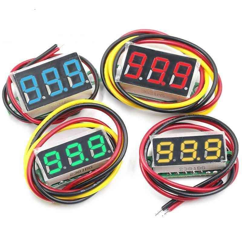 Voltage Meter With Led Display, Digital Panel, Voltmeter Meter