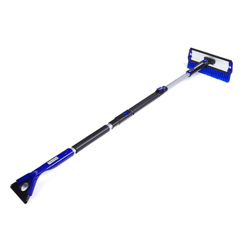 4-in-1 Extendable Snow/ice Scraper With Brush
