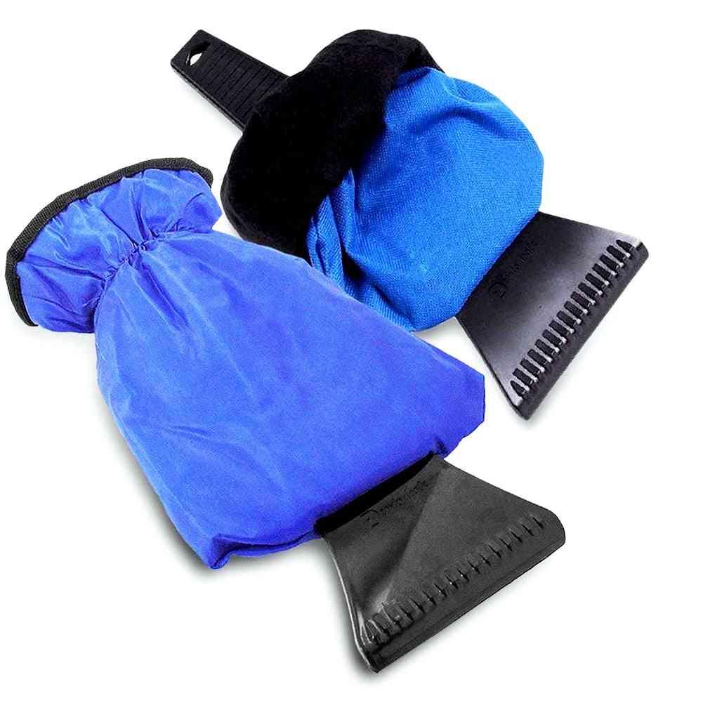 Ice Scraper Mitt, Car Windshield Snow Shovel Warm Glove