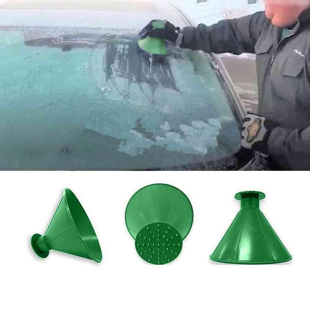Car Ice Scraper Shaped Funnel Snow Remover Deicer Cone