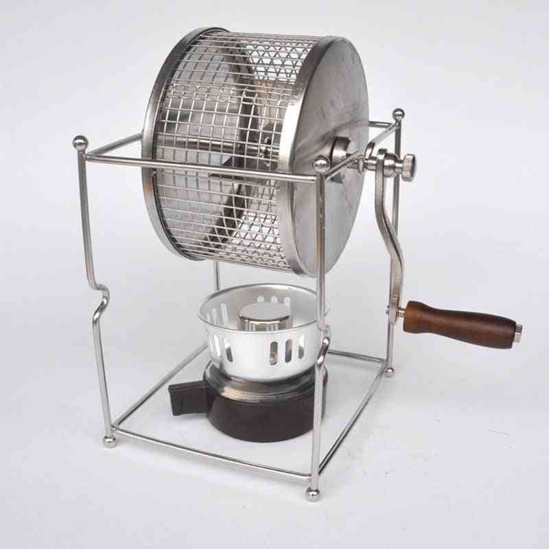 Coffee Bean Roasting Manual Machine, Mini Baking Maker Diy Small Stainless Steel Rollers