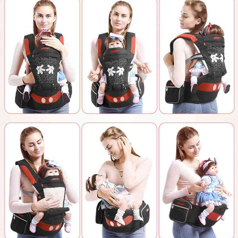 Ergonomic Hipseat - Carrier Backpack Wrap For Newborn