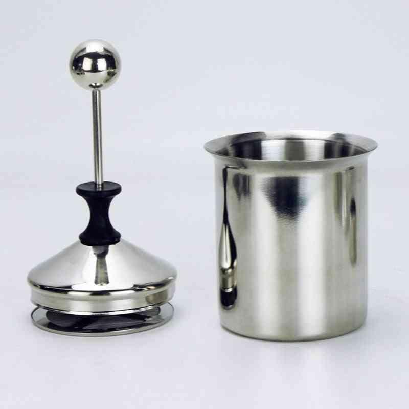 Stainless Steel Double Mesh Milk Creamer, Milk Foam Mesh Coffee Foamer Creamer