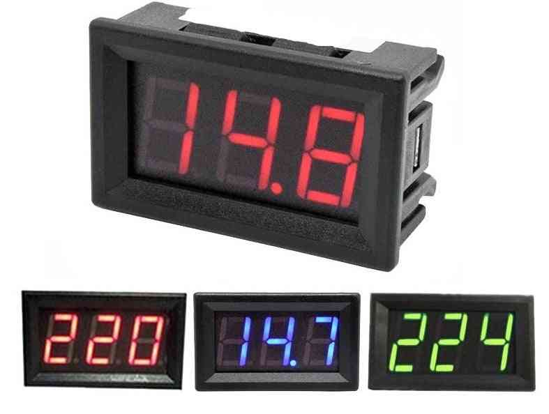 Digital Voltmeter Calibrate Reading Red Green Blue Led Display Voltage Meter