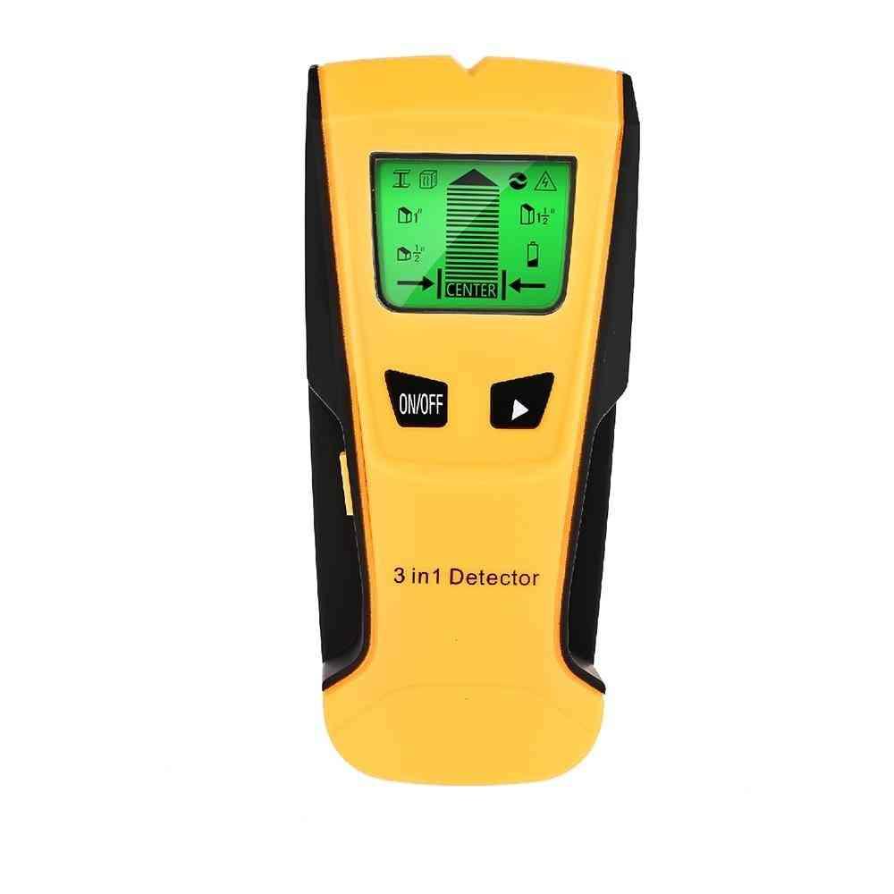 Metal Detector Find Metal Wood Studs Ac Voltage Live Wire Detect Wall Scanner