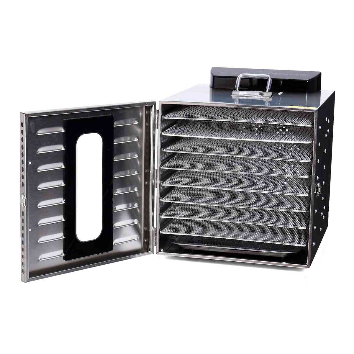 Stainless Steel Food Fruit, Vegetable & Meat Dryer Electric Dehydrator