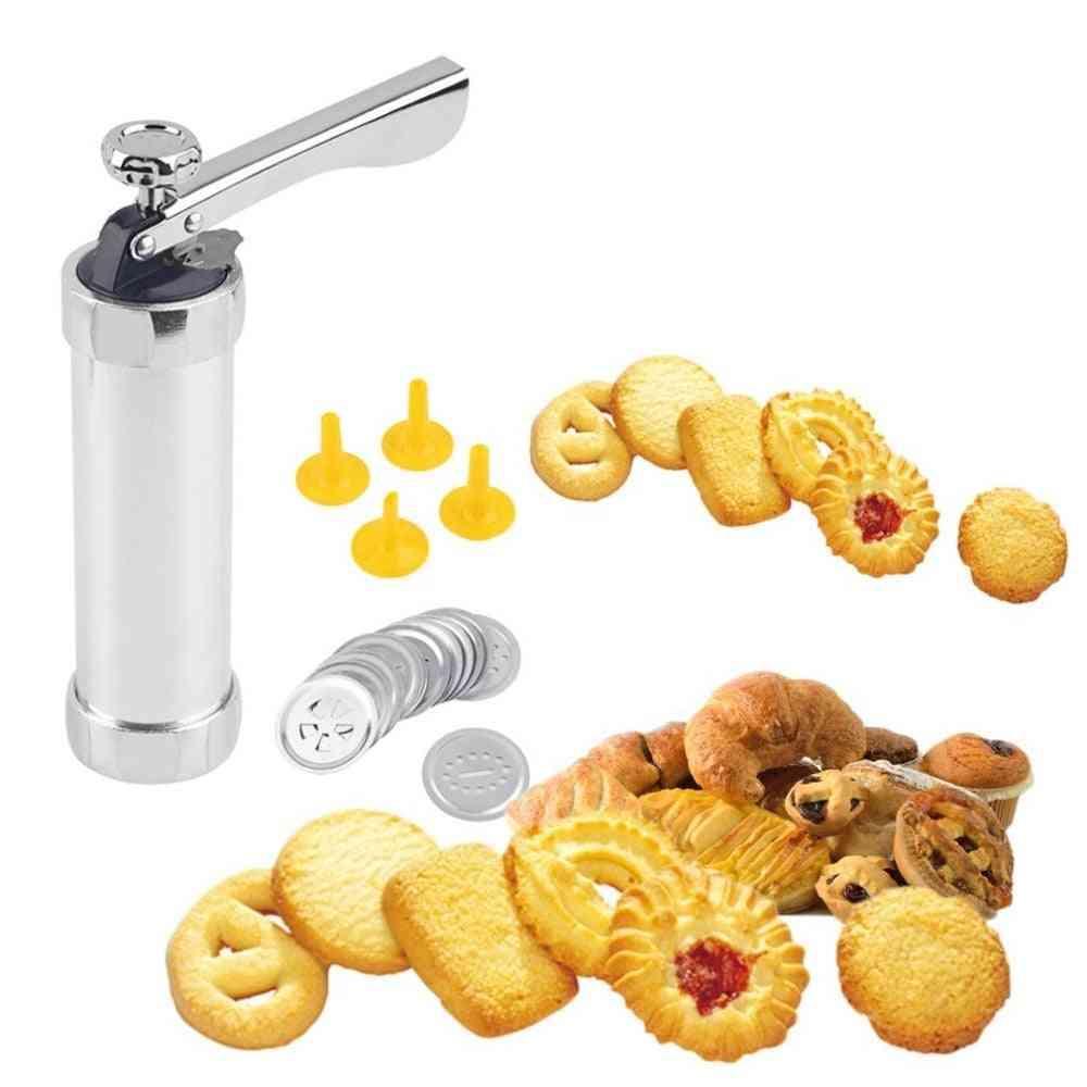 Cookie Extruder Press Machine, Biscuit Maker Cake Making Decorating Set