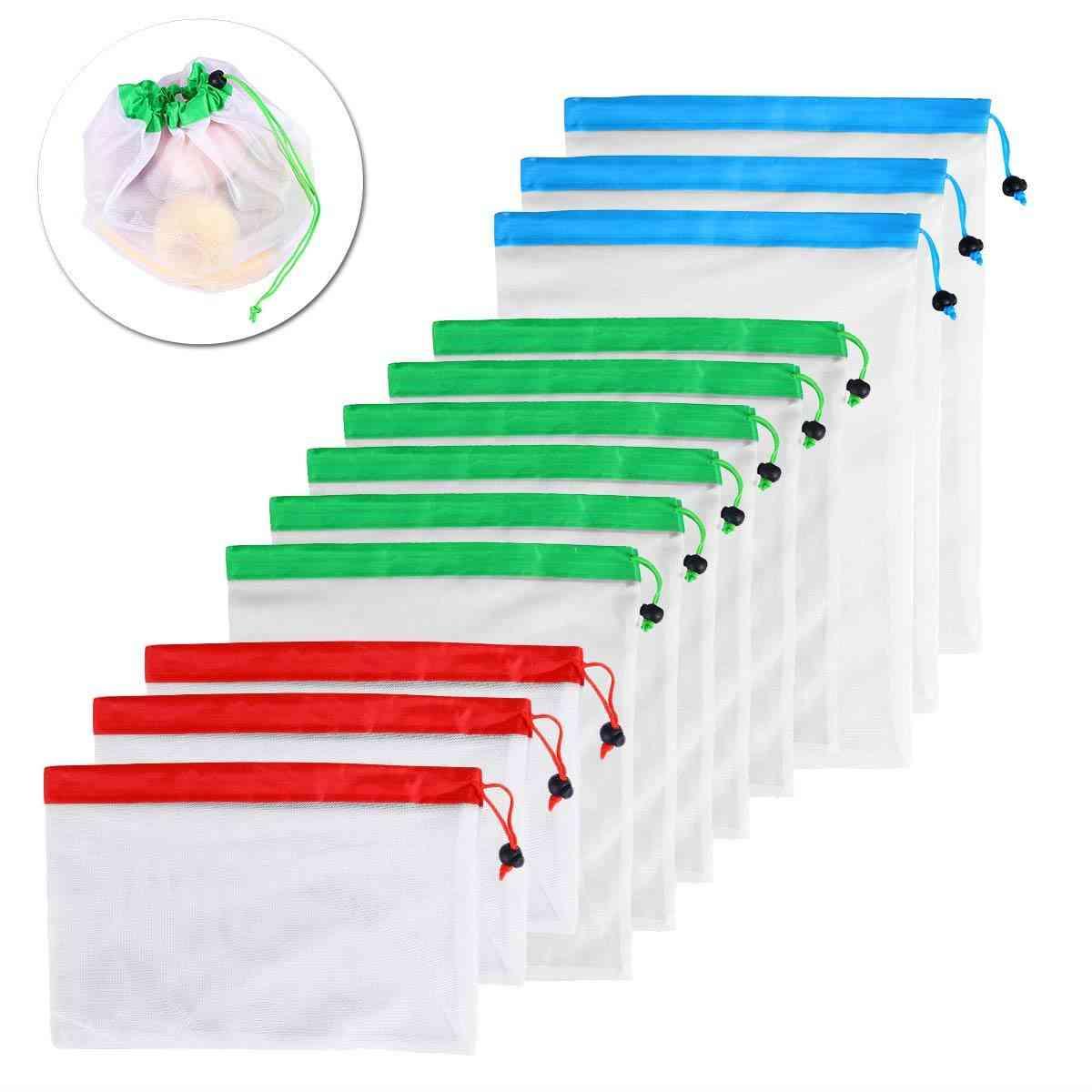 Reusable Mesh Produce Bags, Washable Eco Friendly Bag