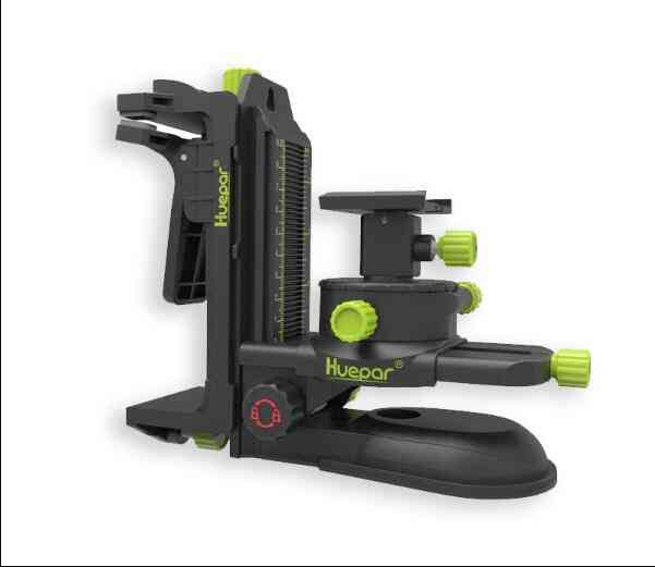 Bracket Laser Level-adapter Multifunctional Magnetic Pivoting Base With Adjustable Clip  (green)