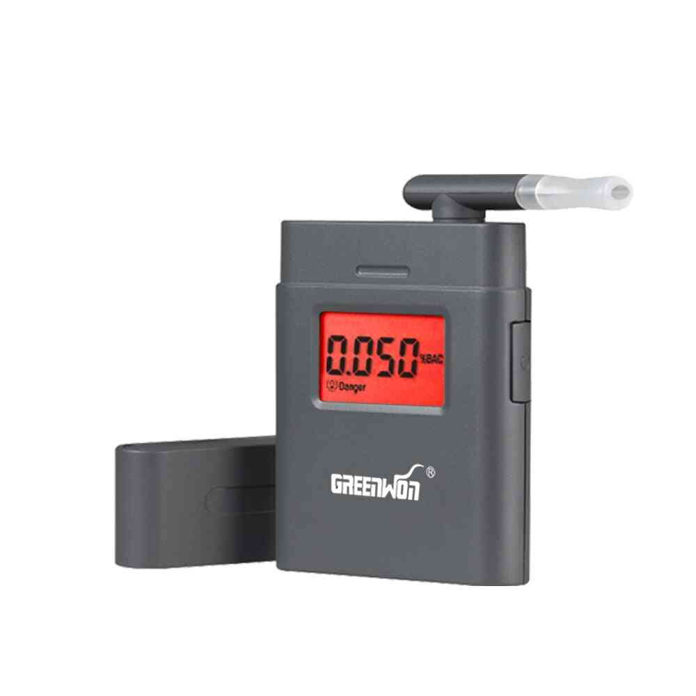 Prefessional Portable Breath Alcohol Analyzer Digital Breathalyzer Tester