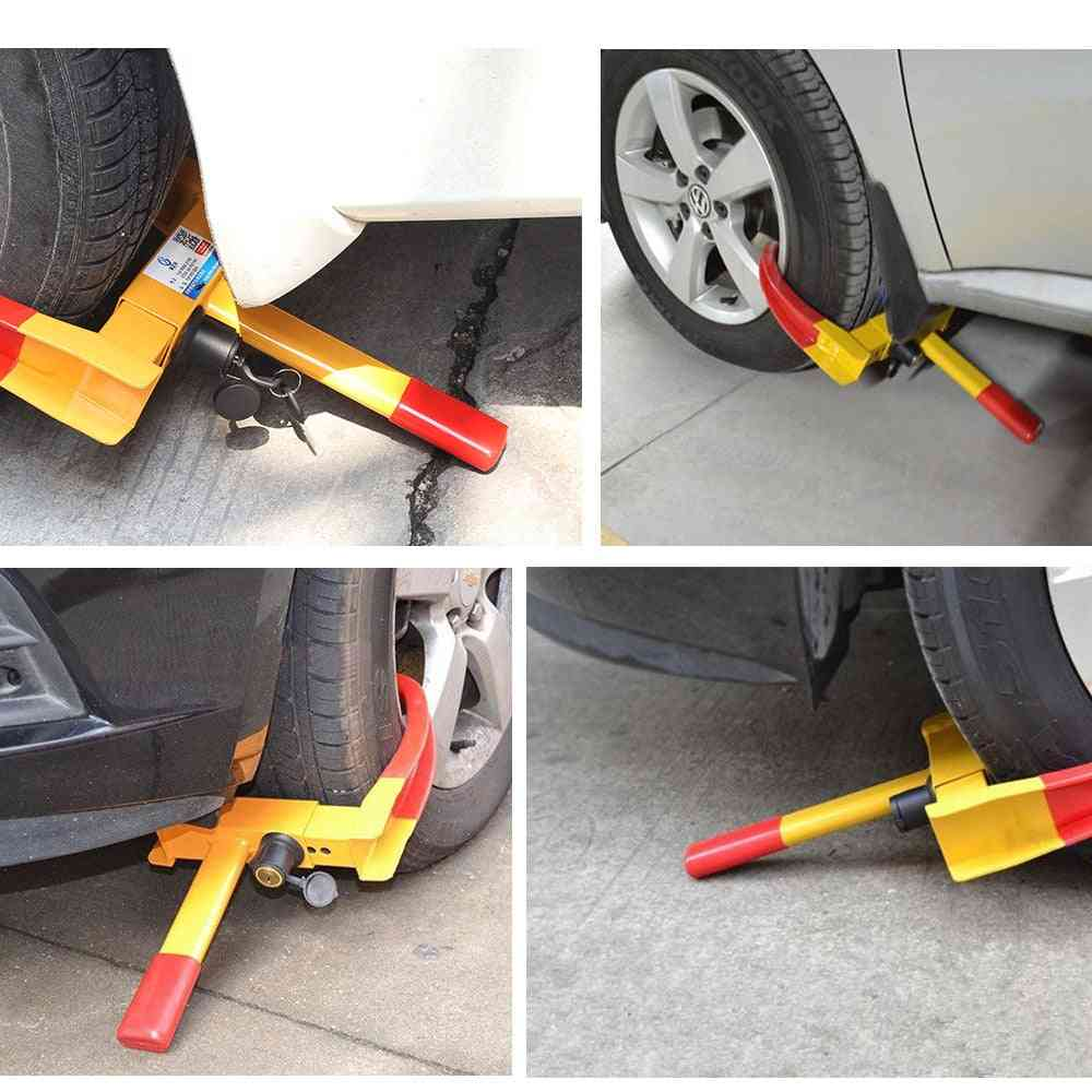 Anti Theft Steel Wheel Clamps Safety Lock For Van Motorcycle Car Trailer Caravan