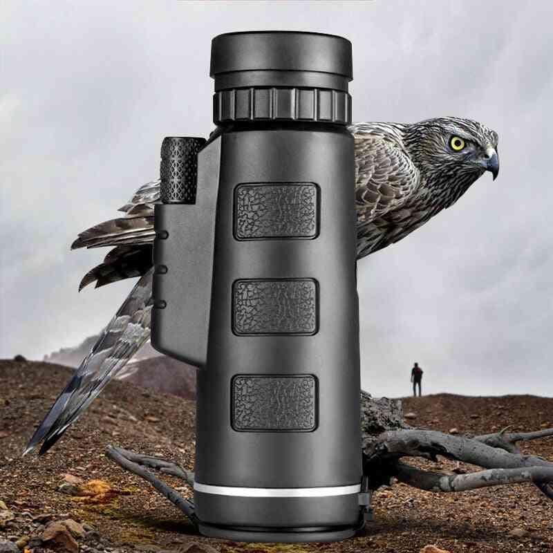 Telescope Monocular, Binoculars Night Vision, Pocket With Smart Phone Holder