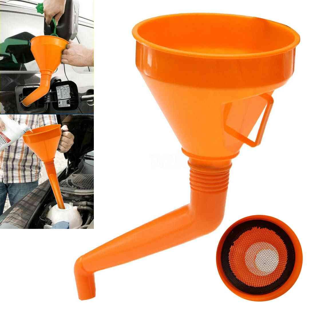 Plastic Large Ddtachable Flexible Neck Funnel Fuel