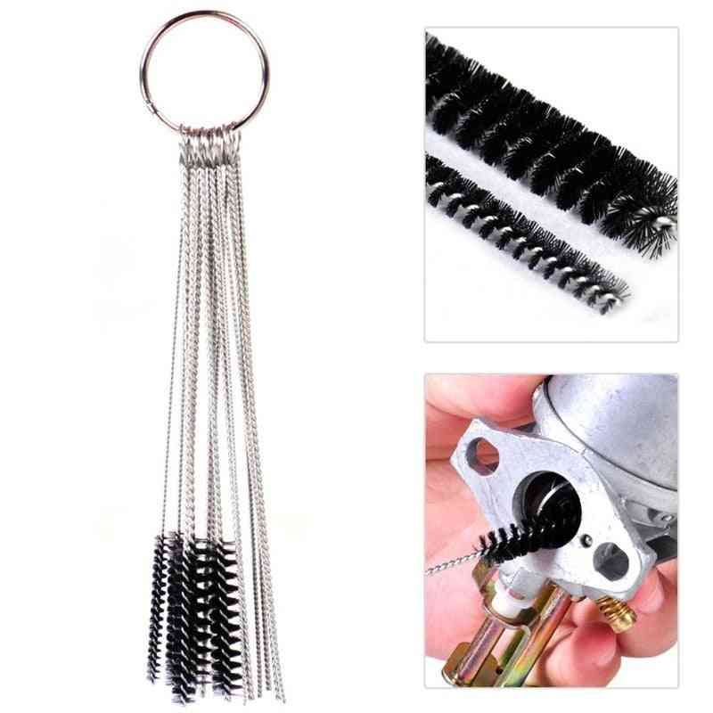 Carburetor Carbon Dirt Jet Remove Set, Cleaning Needles, Brushes Tool Kits, Vehicle Accessories