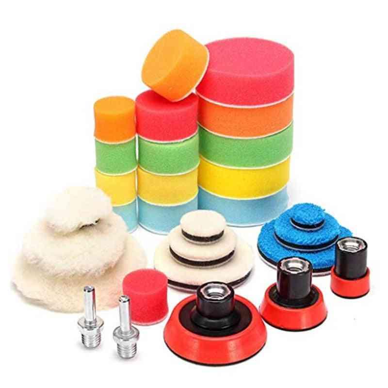 Waxing Sponge Polishing Pad/wool Backing Plate, Vehicle Polishing Tool Set, Car Wash Accessories